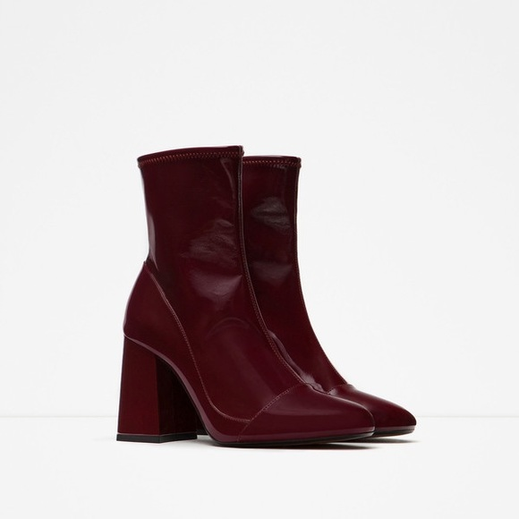 823ee78c789 Red Burgundy Patent Ankle Boots. M_5a3bdfdc9d20f0f89a00b29d